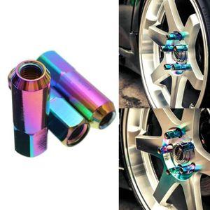 Ouverte Verrouillage Écrous de roue en acier bleu M12 x 1.25 Pour Suzuki Baleno Vitara