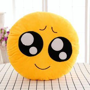 COUSSIN Rond Coussin Oreiller Emoji en PP Coton Peluche 30