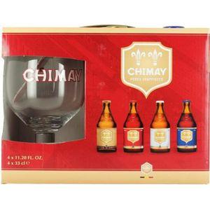 BIÈRE Coffret Chimay 4x33cl + 1 verre