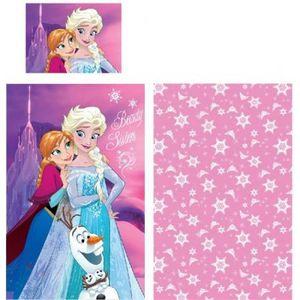 HOUSSE DE COUETTE ET TAIES Parure de lit LA REINE DES NEIGES Frozen Disney -