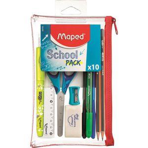 TROUSSE D'EXPERTISE MAPED - School Pack Trousse transparente 10 pcs