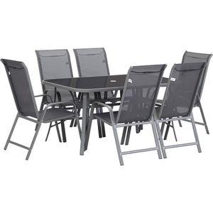 Ensemble table et chaise de jardin Salon de jardin en textilène
