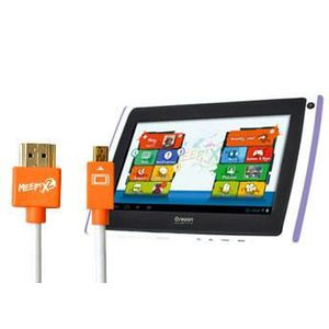 TABLETTE TACTILE Pack Tablette MEEP X2 Violet et Cable HDMI MEEP…