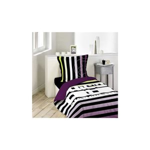couette imprimee 1 place achat vente couette imprimee 1 place pas cher cdiscount. Black Bedroom Furniture Sets. Home Design Ideas