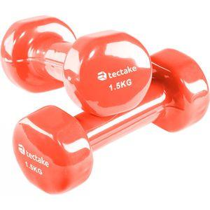 HALTÈRE - POIDS TECTAKE 2 Haltères de Musculation 1,5 kg en Vinyle