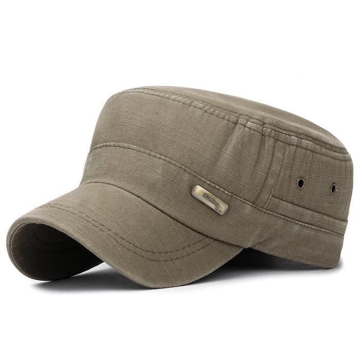 CASQUETTE Unisexe Style militaire Casquette plate Vintage Baseball Cap Sport Chapeau de soleil FLZ90508001AG_666