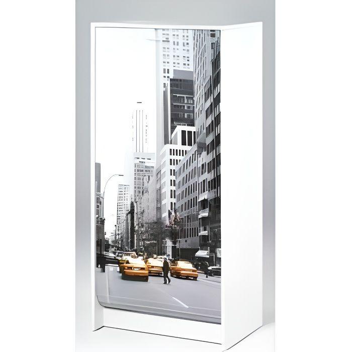 Meuble à Chaussures Blanc Imprimé - Coloris - Scene New York 504