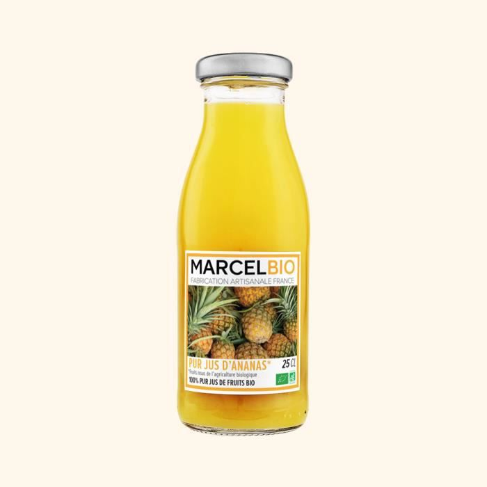 Marcel Bio - Pur Jus d'Ananas Bio 25cl