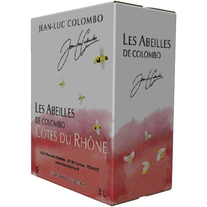Jean-Luc Colombo Côtes du Rhône rouge Les Abeilles 2018 Bag in Box 3L