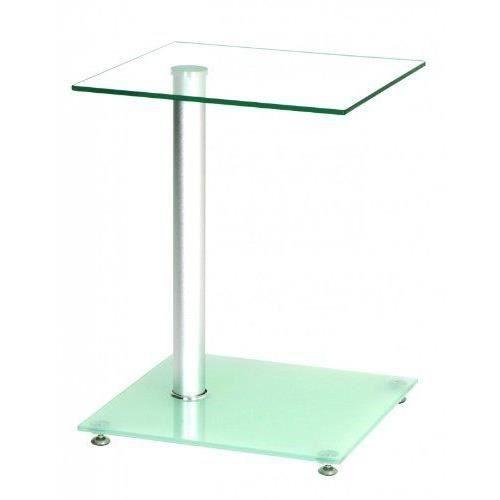 Haku Möbel 33705 Table Basse d'Appoint Verre Trempé Aluminium…
