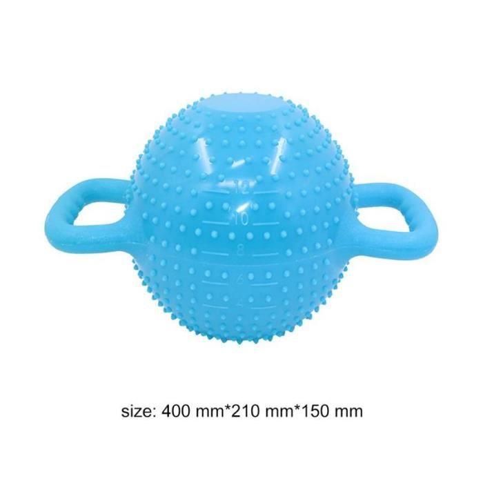 Yoga Fitness bouilloire cloche 4-12LB réglable eau Kettlebell haltère Double poignées Pilate exercice - Modèle: Bleu -