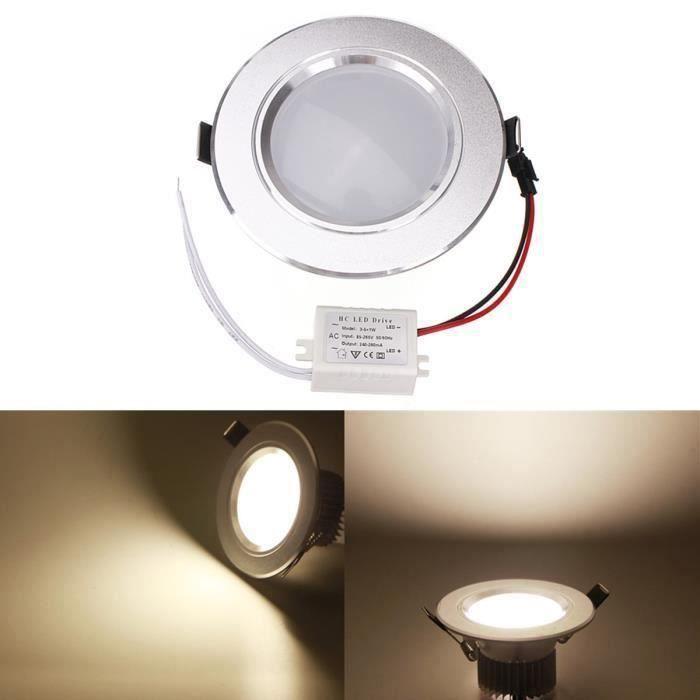12W LED Ampoule encastrée plafonnier lampe 1150-1250 LM 85-265V Blanc chaud FR10663