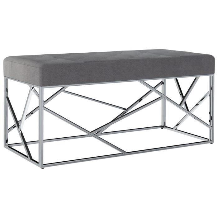 joli6609 Luxueuse Magnifique-Banc Banquette d'Entrée Style Contemporain scandinave -Pouf de Rangement grand confort -Meuble Bas Ban