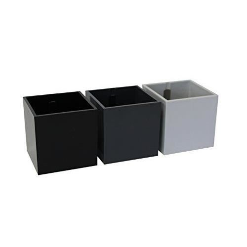 Sgaravatti 60035-100-001 kalamitica vase aimanté, set de 3 cubes, diamètre 5,5 cm, theme gris