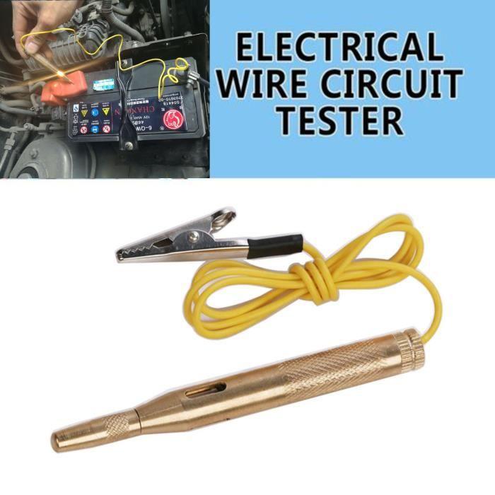 Testeur de circuit de tension de voiture pour lampe de test de continuité de sonde de système 6V - 12V - 24V DC z8