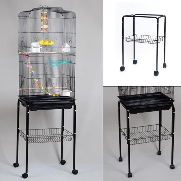 DIYAGSSZ® Base de Volière, Étagère à Roulettes, Support de Base, pour placer des cages à oiseaux, Boît, ect - 48 * 37 * 68 CM