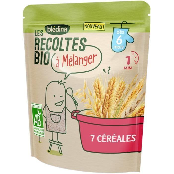 BLEDINA Les récoltes Bio à mélanger - 7 céréales