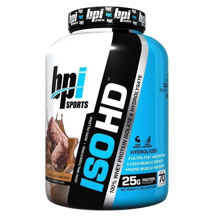 BPI SPORTS - Iso-HD 5 lb (2268g) - Brownie au Chocolat