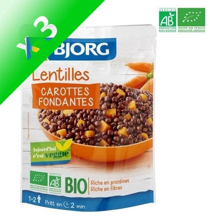 [LOT DE 3] BJORG Lentilles carottes bio - 250 g