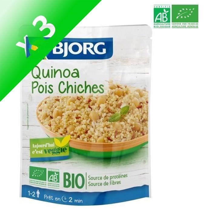 [LOT DE 3] BJORG Quinoa Pois Chiches Doypack Bio 250g