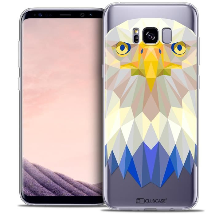 Coque Gel Samsung Galaxy S8+/ Plus (G955) Extra Fine Polygon Animals - Aigle