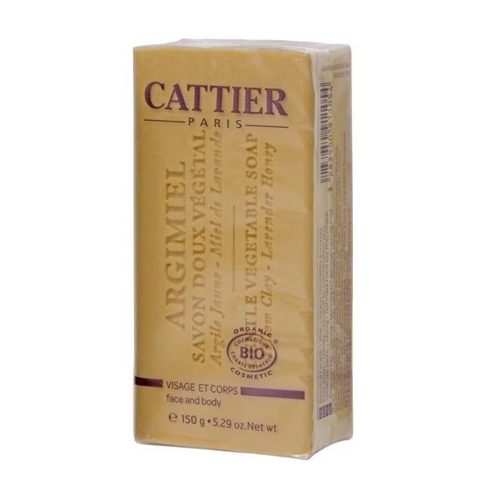 CATTIER Savon Doux Végétal Bio Argimiel 150 g