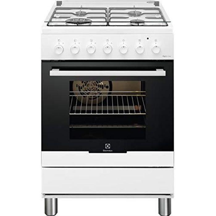 Cuisinière Gaz RKK61380OW Blanc, 60x60, 4Foyers GAZ