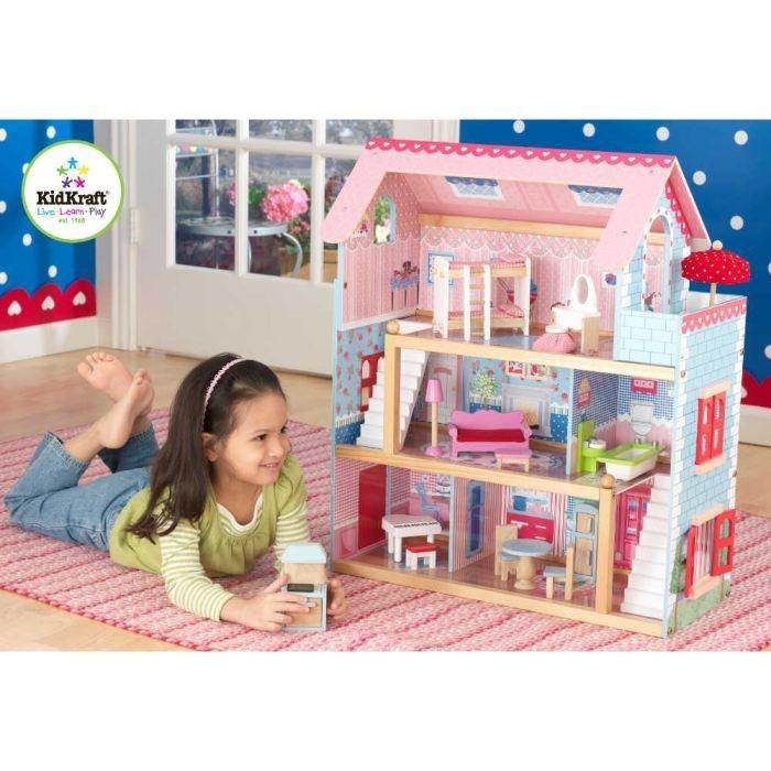 KIDKRAFT Maison de poupées Chelsea 19 pièces