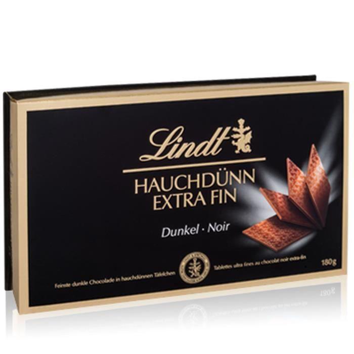 Confiserie de Chocolat Lindt Extra Fins Noir - Coffret 180G