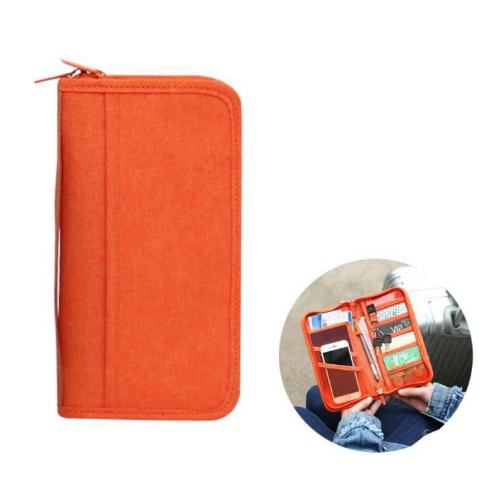 Porte-passeport de voyage multifonction Porte-documents de carte de crédit ID Zipper Organizer Holder BADGE - CARTE