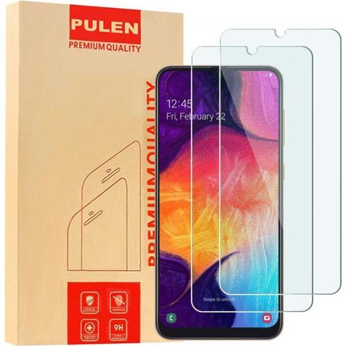 Pour Samsung Galaxy A50 6.4- - Lot - Pack de 2 Films de protection d'écran Verre Trempé
