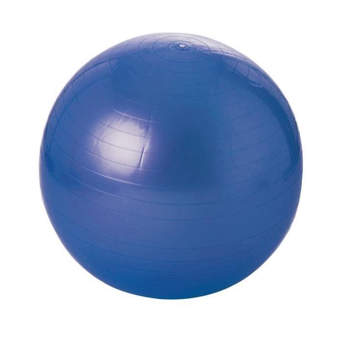 Balle gymnastique de couleur bleu avec diamètre de 55 cm