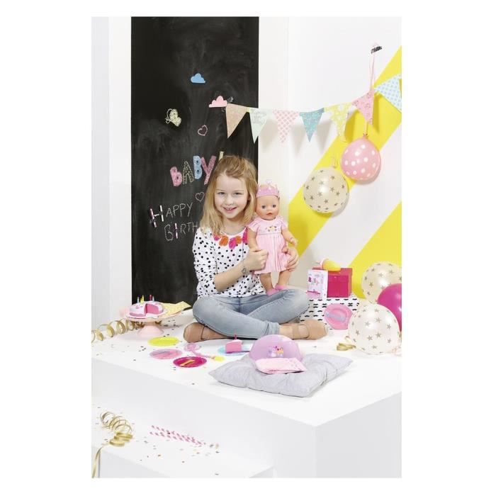 Zapf Creation 824054 BABY Born Joyeux anniversaire interactif - Nouvelle robe