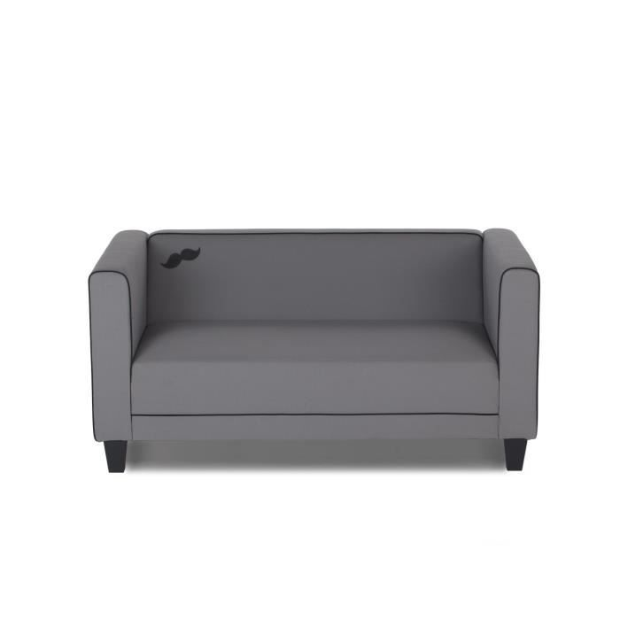 mikk canap 2 places fixe achat vente canap sofa divan cdiscount. Black Bedroom Furniture Sets. Home Design Ideas