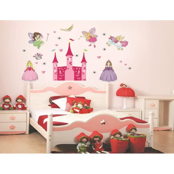 Ch teau de princesse anges elfes et licorne diy stickers for Stickers chambre d enfant