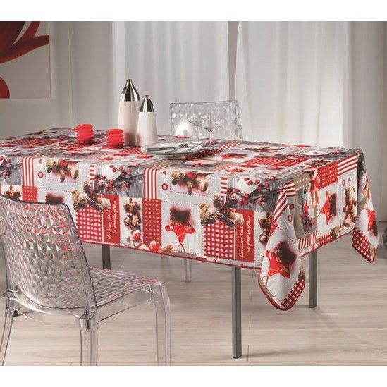 nappe anti tache rectangle 150x240 cm table de f tes nounours no l achat vente nappe de. Black Bedroom Furniture Sets. Home Design Ideas