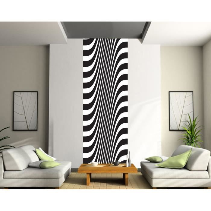 papier peint l unique noir et blanc dimensions 80x260cm. Black Bedroom Furniture Sets. Home Design Ideas