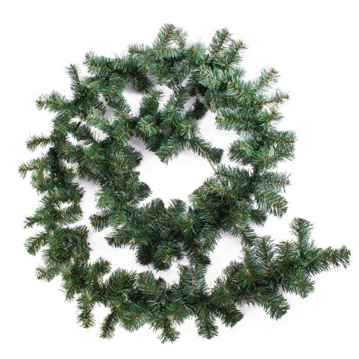 Guirlande de sapin artificiel, haute gamme, vert, 270 cm, Ø ...
