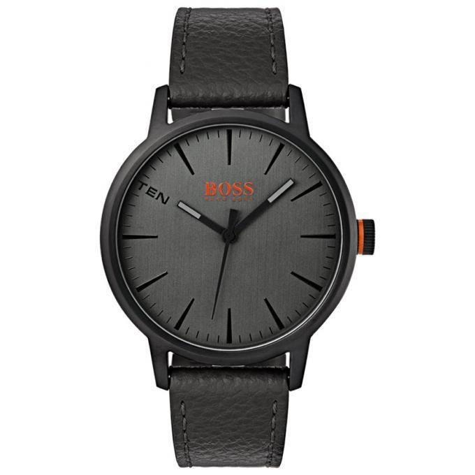 PACK MONTRE montre hugo boss orange 1550055 - montre cuir noir