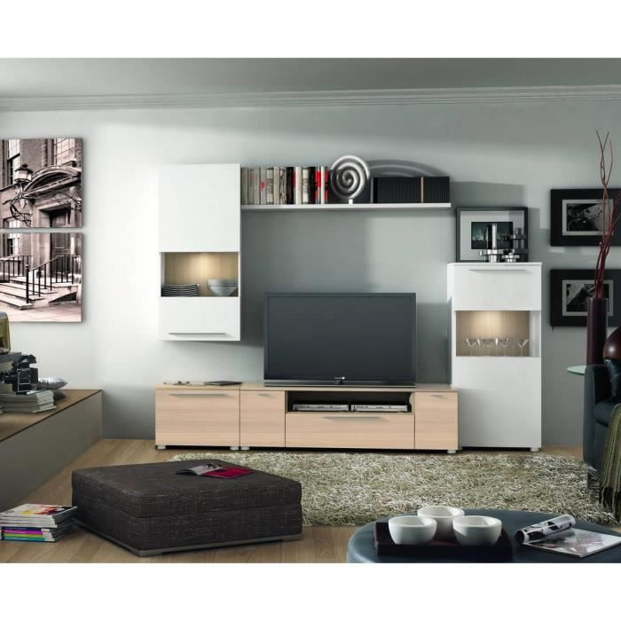 ensemble bibliotheque meuble tv vitre s avec achat vente biblioth que mob tv. Black Bedroom Furniture Sets. Home Design Ideas
