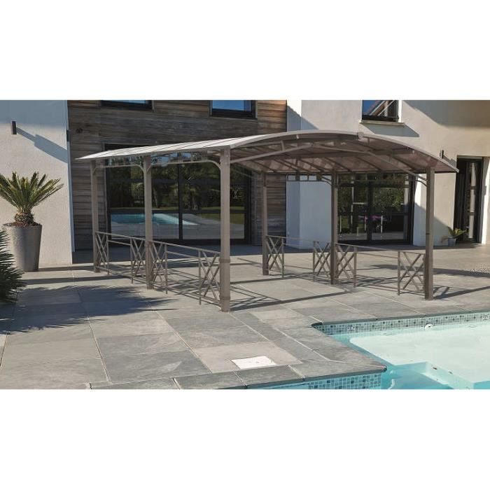 pergola de jardin rectangulaire 500x363x245 achat vente tonnelle barnum pergola de jardin. Black Bedroom Furniture Sets. Home Design Ideas