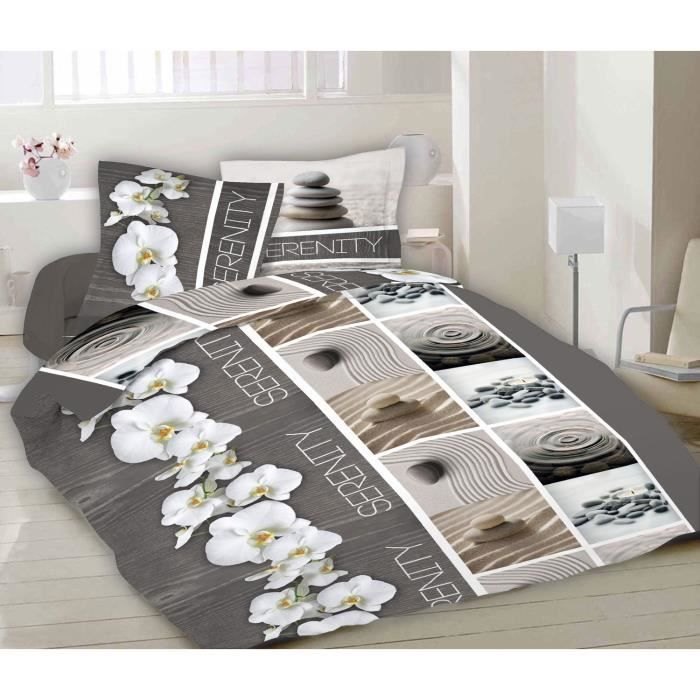 parure de draps king 2 personnes 100 coton 1 drap plat 1 drap housse 2 taies d. Black Bedroom Furniture Sets. Home Design Ideas