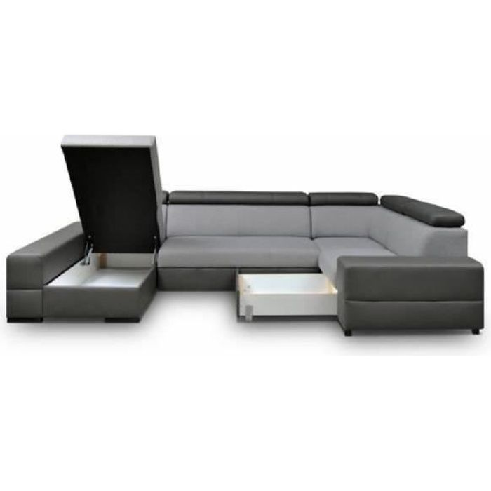 canap d 39 angle 6 places panoramique capri xxl design achat vente canap sofa divan. Black Bedroom Furniture Sets. Home Design Ideas