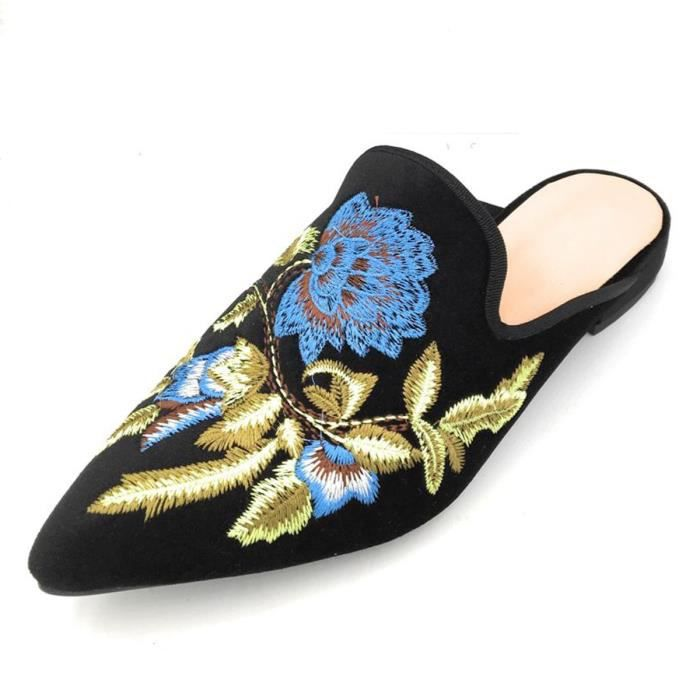 Casual Velvet Mule Slip On Mocassins ICHKT Taille-43