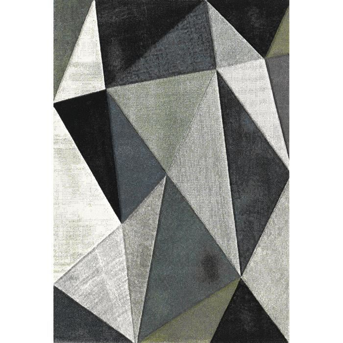 belis tapis 160x230 cm gris noir et blanc achat vente. Black Bedroom Furniture Sets. Home Design Ideas