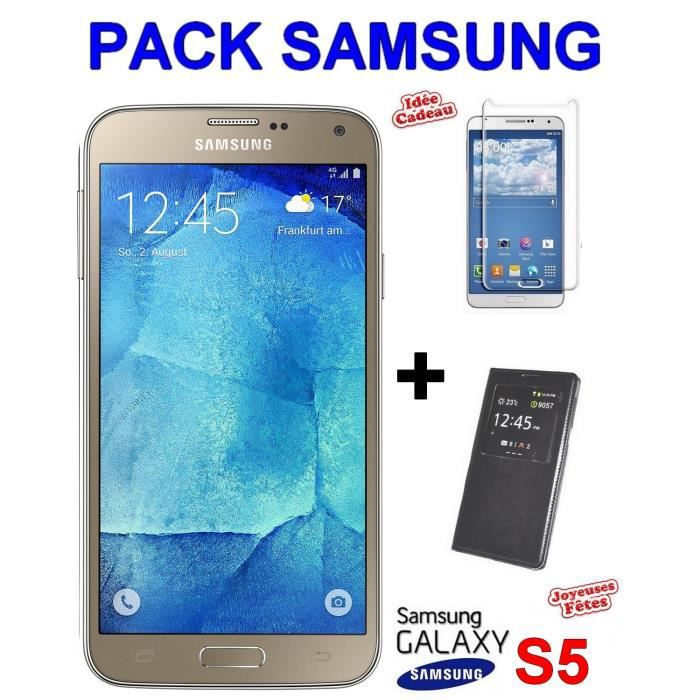 samusng galaxy s5 neo gold g903 view cover film durcit. Black Bedroom Furniture Sets. Home Design Ideas