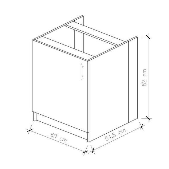 OBI Meuble bas de cuisine L 60 cm - Blanc mat