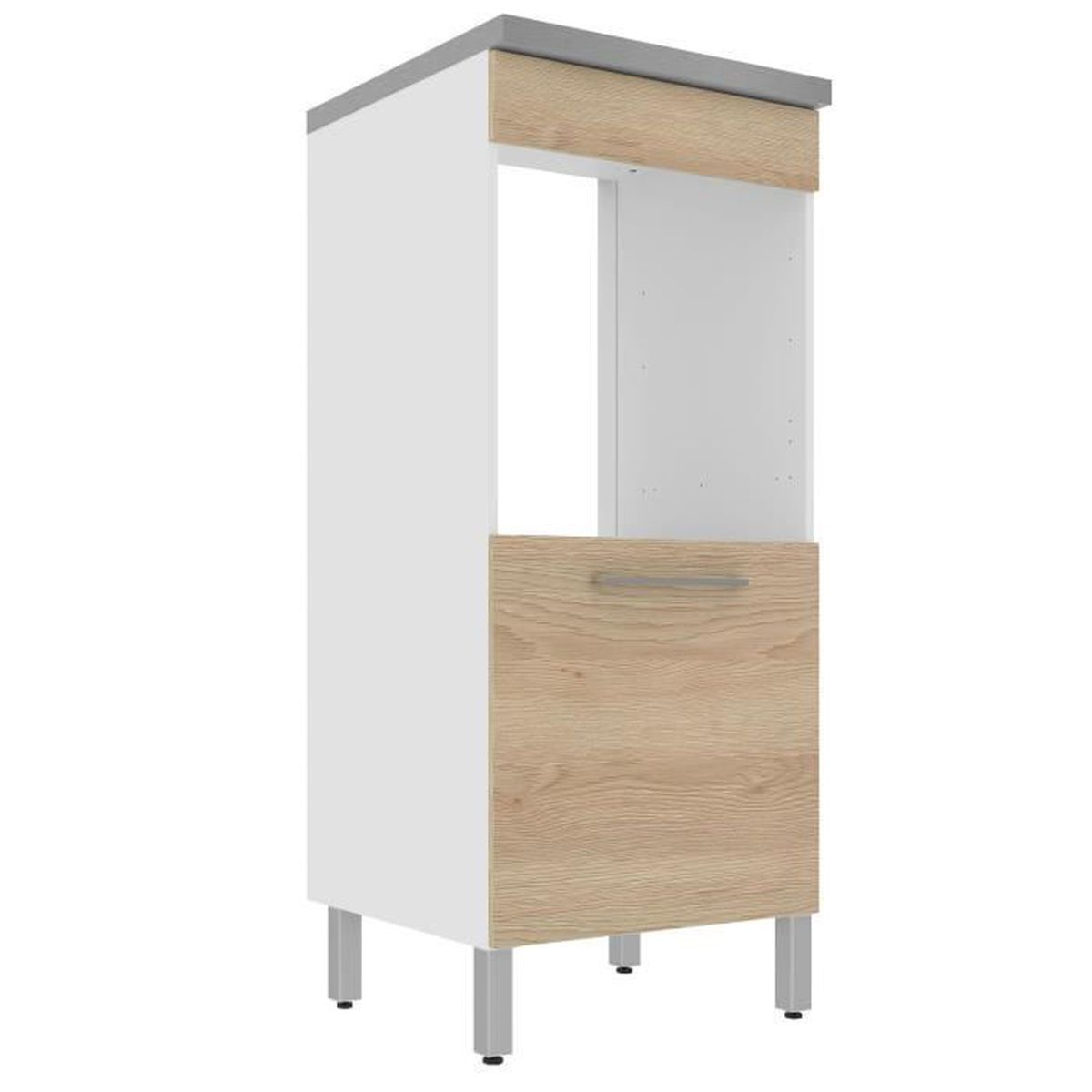 elia meuble de cuisine armoire pour four coloris ch ne 60cm naturel achat vente elements. Black Bedroom Furniture Sets. Home Design Ideas