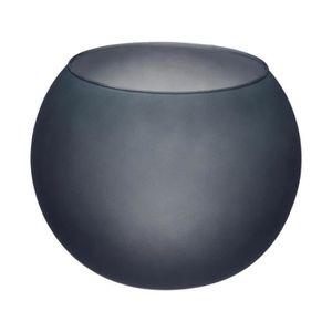 VASE - SOLIFLORE Atmosphera - Vase boule en verre givré gris Diamèt
