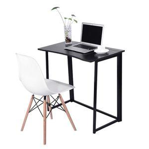 BUREAU  Bureau d'ordinateur pliant Table d'ordinateur plia